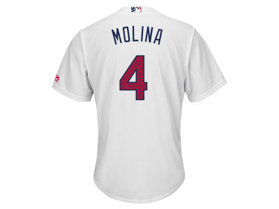 St. Louis Cardinals Yadier Molina Majestic MLB Men's Stars & Stripes Cool Base Jersey