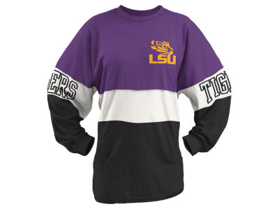LSU Tigers Pressbox NCAA Women's Clarity Sweeper T-Shirt