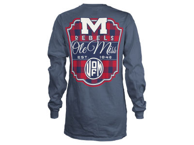 Ole Miss Rebels NCAA Women's Buffalo Plaid Long Sleeve T-Shirt