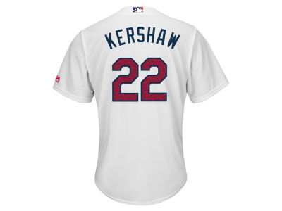 Los Angeles Dodgers Clayton Kershaw MLB 2016 Men's Stars & Stripes Cool Base Jersey