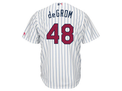 New York Mets Jacob deGrom MLB 2016 Men's Stars & Stripes Cool Base Jersey