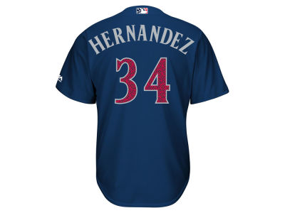 Seattle Mariners Félix Hernández MLB 2016 Men's Stars & Stripes Cool Base Jersey