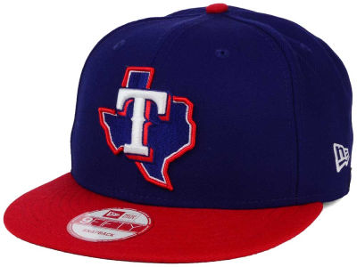 Texas Rangers New Era MLB 2Tone Link BP 9FIFTY Snapback Cap