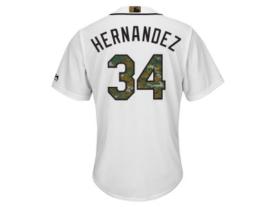 Seattle Mariners Felix Hernandez MLB Men's 2016 USMC Memorial Day Cool Base Jersey