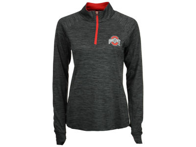 Ohio State Buckeyes J America NCAA Women's Space Dyed Quarter Zip Pullover