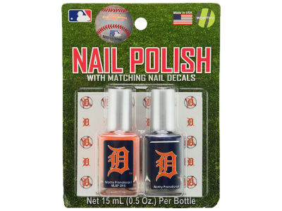 Detroit Tigers 2-pack Nail Polish w/ Decals