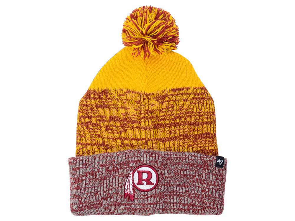 Washington Redskins  47 NFL Static Cuff Pom Knit  8d3efd13f