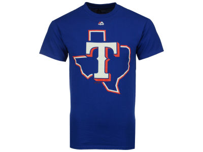 Texas Rangers Majestic MLB Men's Official Legacy Logo T-Shirt