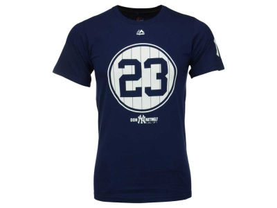 New York Yankees Don Mattingly Majestic MLB Men's Cooperstown Pinstripe Number T-Shirt