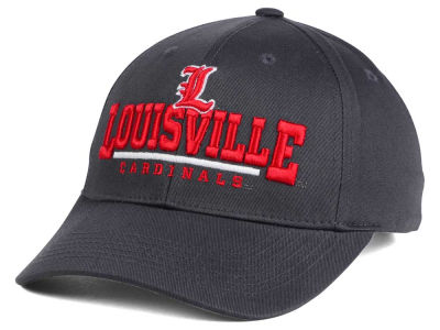 Louisville Cardinals Top of the World NCAA Charcoal Teamwork Snapback Cap