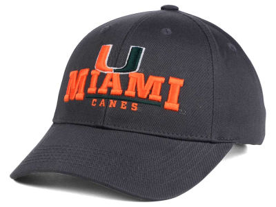 Miami Hurricanes Top of the World NCAA Charcoal Teamwork Snapback Cap
