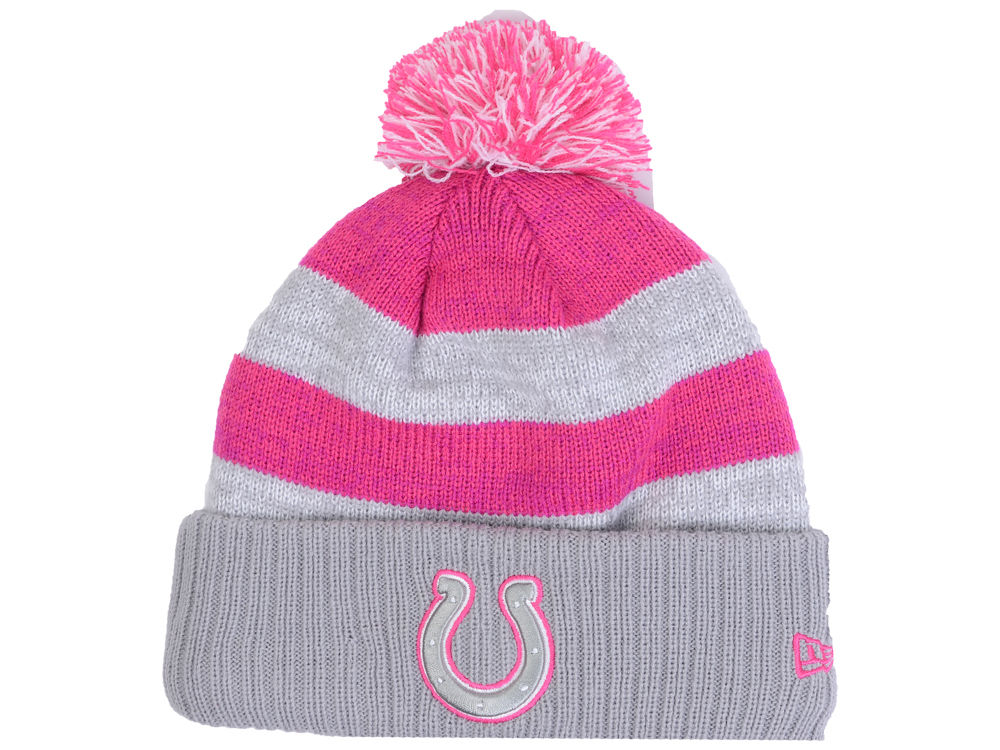 9985b5727f7 best price indianapolis colts new era nfl womens breast cancer awareness  knit 0db37 0e28f