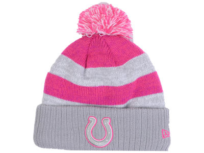Indianapolis Colts New Era NFL Women's Breast Cancer Awareness Knit