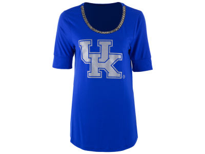 Kentucky Wildcats Gameday Couture NCAA Women's Beaded Neckline Half Sleeve T-Shirt