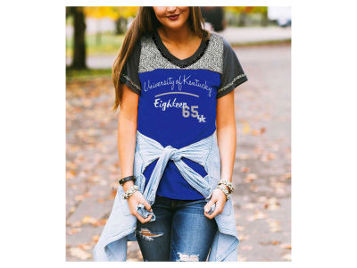 Kentucky Wildcats Gameday Couture NCAA Women's Herringbone Football T-Shirt