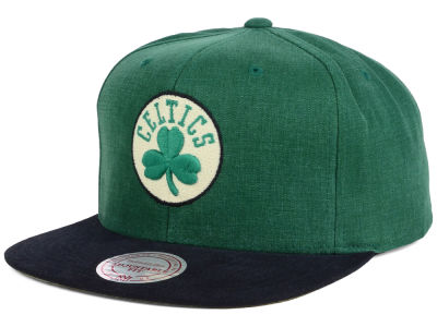 Boston Celtics Mitchell and Ness NBA Sandy Off White Snapback Cap