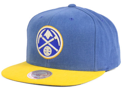 Denver Nuggets Mitchell and Ness NBA Sandy Off White Snapback Cap