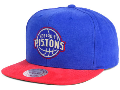 Detroit Pistons Mitchell and Ness NBA Sandy Off White Snapback Cap