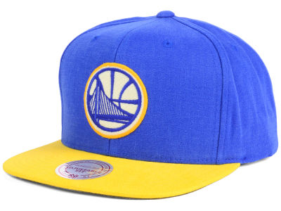 Golden State Warriors Mitchell and Ness NBA Sandy Off White Snapback Cap