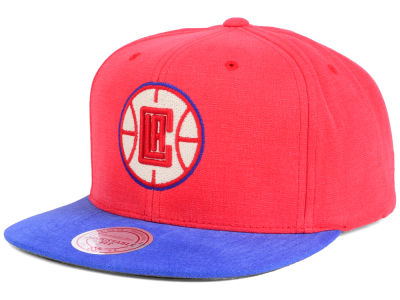 Los Angeles Clippers Mitchell and Ness NBA Sandy Off White Snapback Cap