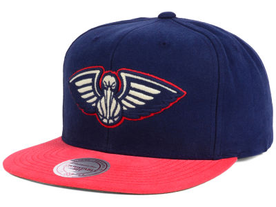 New Orleans Pelicans Mitchell and Ness NBA Sandy Off White Snapback Cap