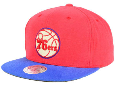 Philadelphia 76ers Mitchell and Ness NBA Sandy Off White Snapback Cap