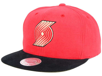 Portland Trail Blazers Mitchell and Ness NBA Sandy Off White Snapback Cap