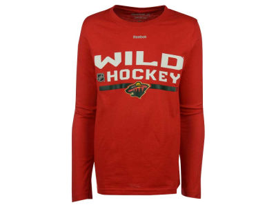 Minnesota Wild adidas NHL Youth Authentic Freeze Long Sleeve T-Shirt
