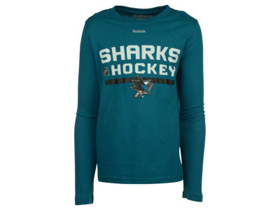 San Jose Sharks adidas NHL Youth Authentic Freeze Long Sleeve T-Shirt