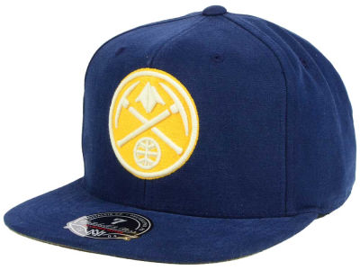 Denver Nuggets Mitchell and Ness NBA Sandy Off White Logo Fitted Cap