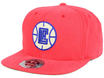 Los Angeles Clippers Mitchell & Ness NBA Sandy Off White Logo Fitted Cap