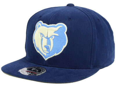Memphis Grizzlies Mitchell and Ness NBA Sandy Off White Logo Fitted Cap
