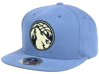Minnesota Timberwolves Mitchell and Ness NBA Sandy Off White Logo Fitted Cap