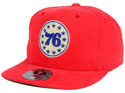 Philadelphia 76ers Mitchell & Ness NBA Sandy Off White Logo Fitted Cap