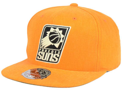 Phoenix Suns Mitchell and Ness NBA Sandy Off White Logo Fitted Cap