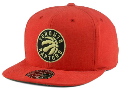 Toronto Raptors Mitchell and Ness NBA Sandy Off White Logo Fitted Cap