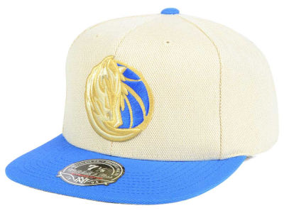 Dallas Mavericks Mitchell & Ness NBA Cream Oxford Fitted Cap