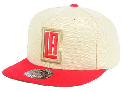 Los Angeles Clippers Mitchell and Ness NBA Cream Oxford Fitted Cap