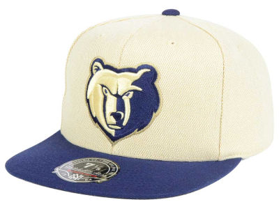 Memphis Grizzlies Mitchell and Ness NBA Cream Oxford Fitted Cap