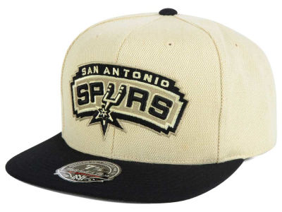 San Antonio Spurs Mitchell and Ness NBA Cream Oxford Fitted Cap