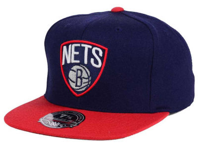 Brooklyn Nets Mitchell and Ness NBA Throwback Fitted Cap