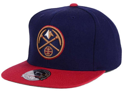 Denver Nuggets Mitchell and Ness NBA Throwback Fitted Cap