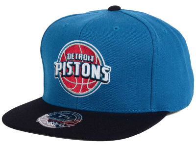 Detroit Pistons Mitchell and Ness NBA Throwback Fitted Cap