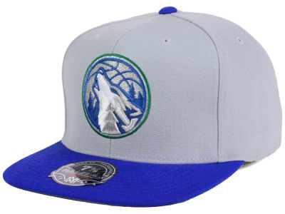 Minnesota Timberwolves Mitchell and Ness NBA Throwback Fitted Cap