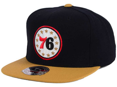 Philadelphia 76ers Mitchell and Ness NBA Throwback Fitted Cap
