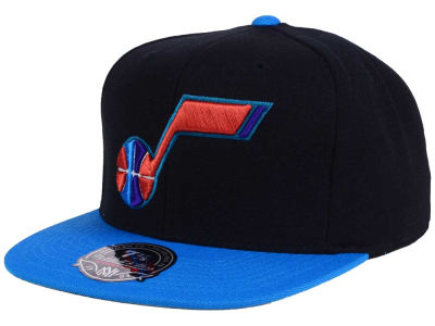 Utah Jazz Mitchell and Ness NBA Throwback Fitted Cap