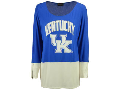 Kentucky Wildcats Gameday Couture NCAA 2015 Women's Colorblock Zipper Tunic Top Shirt