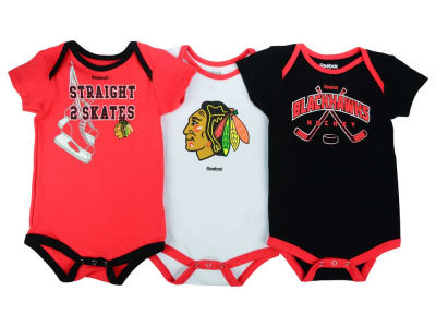 Chicago Blackhawks adidas NHL Newborn Hat Trick Creeper Set