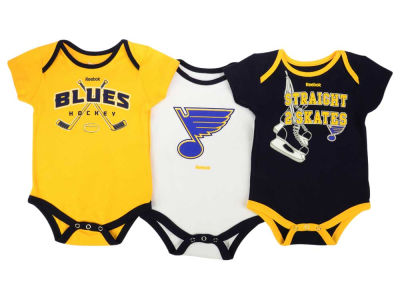 St. Louis Blues adidas NHL Newborn Hat Trick Creeper Set