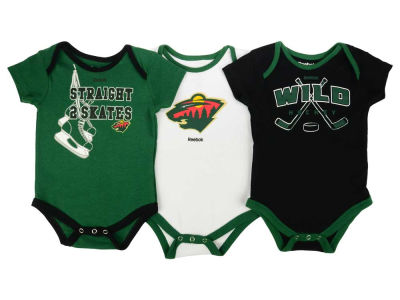 Minnesota Wild adidas NHL Newborn Hat Trick Creeper Set